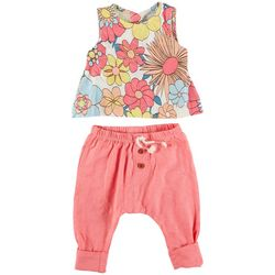 Jessica Simpson Baby Girls 2-pc. Floral Jogger Pant Set