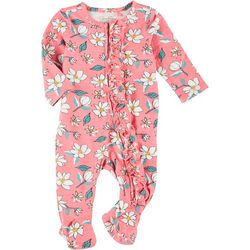 Jessica Simpson Baby Girls Floral Footie Pajamas