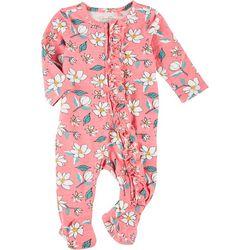 Jessica Simpson Baby Girls Floral Footie Pajamas