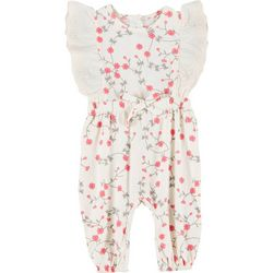 Jessica Simpson Baby Girls Floral Jumpsuit