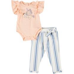 Baby Girls 2-pc. Birdie Bodysuit & Pant Set