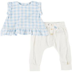 Baby Girls 2-pc. Plaid Top & Pant Set