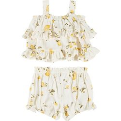 Baby Girls 2-pc. Ruffle Lemon Shorts Set
