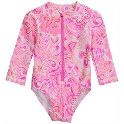 Baby Girls Floral Print Rashguard