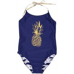 Tommy Bahama Toddler Girls Pineapple Swimsuit