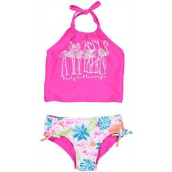 Baby Girls 2-pc. Flamingle Halter Swimsuit