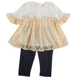 Nanette Baby Girls 2-Pc. Lace Ruffled Leggings Set