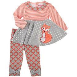 Nanette Baby Girls 2-Pc. Fox Leggings Set