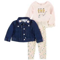 Nanette Baby Girls 3-Pc. Leopard Print Leggings Set