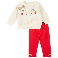Nannette Baby Baby Girls 2-pc. Faux Fur Leggings Set