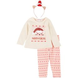 Nanette Baby Girls 2-pc. Meowgical Long Sleeve Top