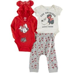 Disney Baby Girls 3-pc. Minnie Mouse Pant Set