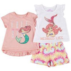 Disney Toddler Girls 3-pc. The Little Mermaid Short