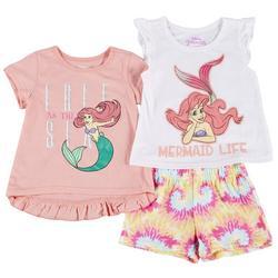 Toddler Girls 3-pc. The Little Mermaid Short Set