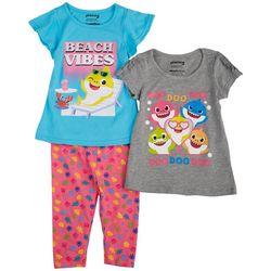 Baby Shark Toddler Girls 3-pc. Beach Vibes Pants Set