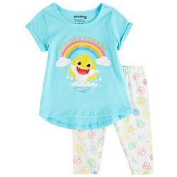 Baby Shark Toddler Girls 2-pc. Rainbow Shark Pants Set