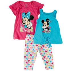 Disney Baby Girls 3-pc. Minnie Mouse Love Pant Set