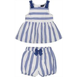 Andy & Evan Baby Girls Stripe Shorts Set