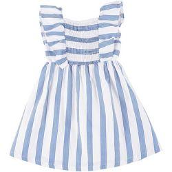 Toddler Girls Stripe Flutter Sleeve Dress