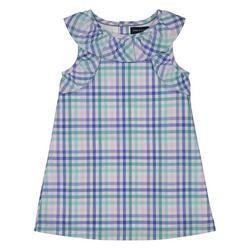 Toddler Girls Sleeveless Plaid Dress