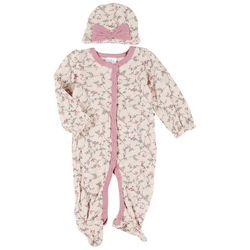 Laura Ashley Baby Girls 2-pc. Floral Pajama Set