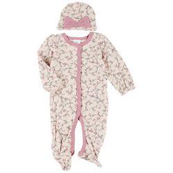 Baby Girls 2-pc. Floral Pajama Set