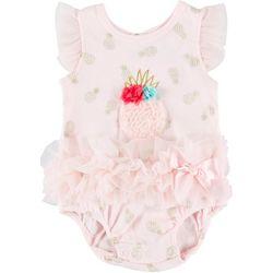 Little Beginnings Baby Girls Pineapple Ruffle Bodysuit