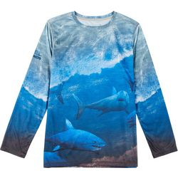 Reel Legends Toddler Boys Great White Long Sleeve T-shirt