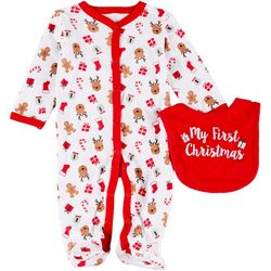 Baby Girls 2-pc. My First Christmas Sleeper Set