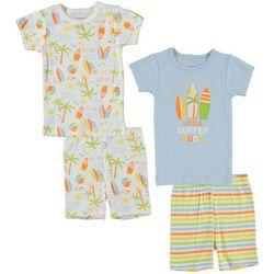 Cutie Pie Baby Baby Boys 4-pc. Surfer Pajama Set
