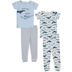 Cutie Pie Baby Baby Boys 4-pc. Whale Pajama Set