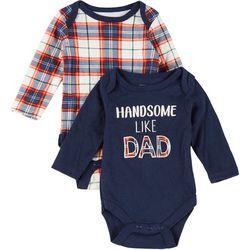 Kyle & Deena Baby Boys 2-pc. Handsome Like Dad Bodysuit Set