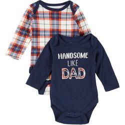 Baby Boys 2-pc. Handsome Like Dad Bodysuit Set