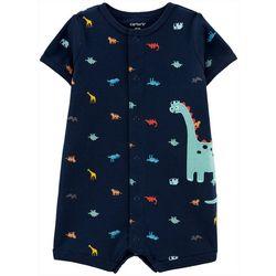 Carters Baby Boys Short Sleeve Dino Print Romper