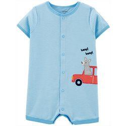 Carters Baby Boys Llama Car Romper