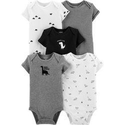 Baby Boys 5-pk. Dinosaur Bodysuits
