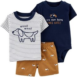 Carters Baby Boys 3-pc. Puppy Short Set