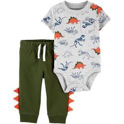 Baby Boys 2-pc. Dino Bodysuit Pant Set