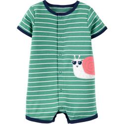 Baby Boys Snail Stripe Romper