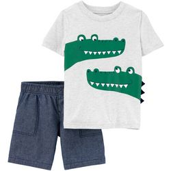 Carters Baby Boys 2-pc. Alligator Short Set