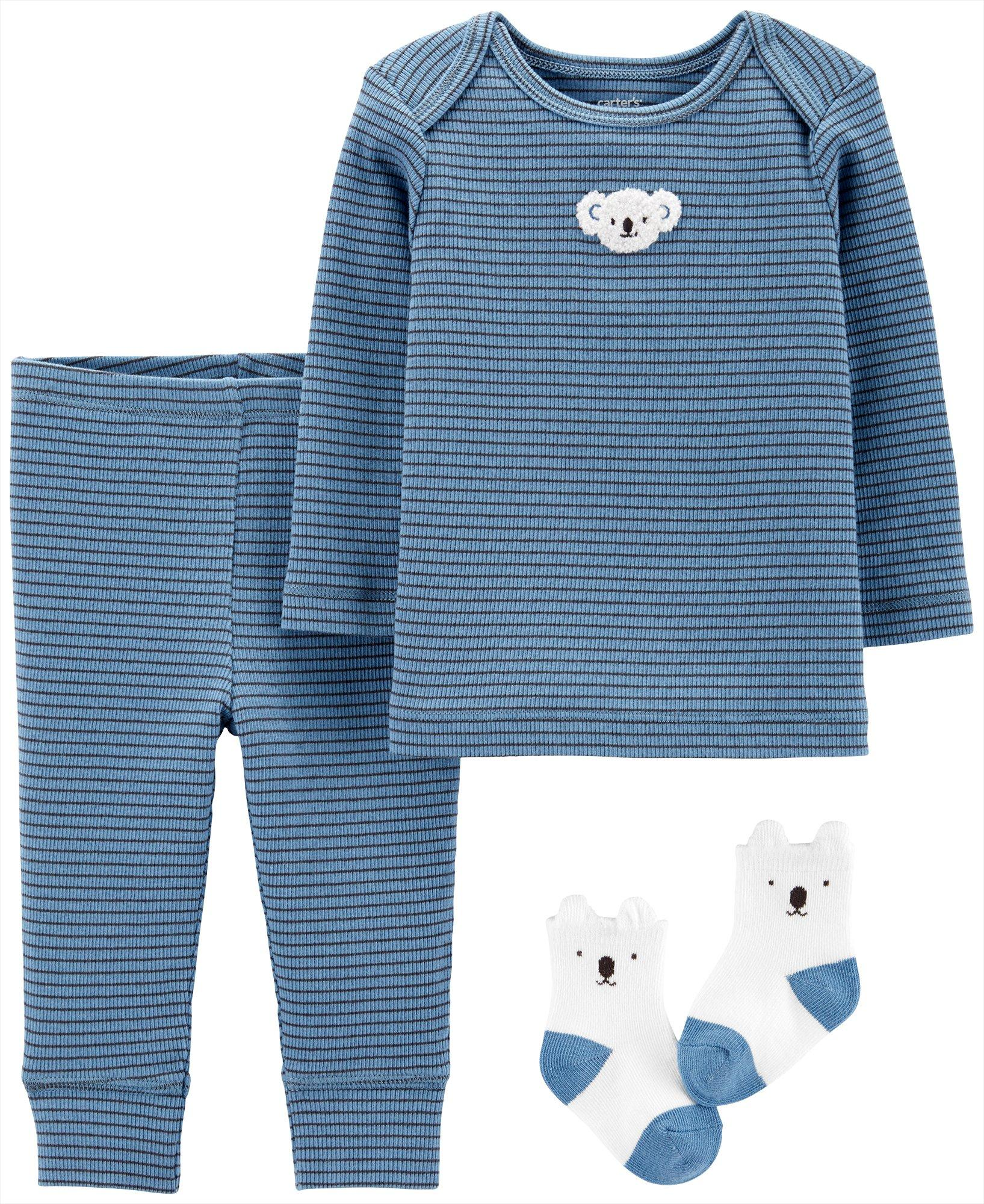 Little Peanut Cardigan Layette Set Carters Baby Boys 3-pc