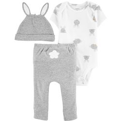 Carters Baby Boys 3-pc. Easter Bunny Bodysuit Set