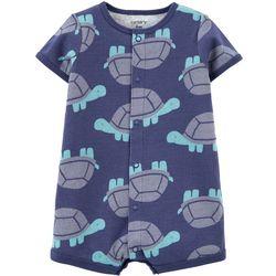 Carters Baby Boys Turtle Romper