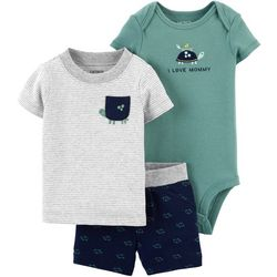 Carters Baby Boys 3-pc. Turtle I Love Mommy
