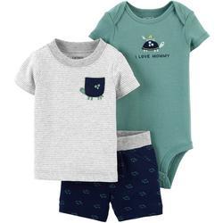 Baby Boys 3-pc. Turtle I Love Mommy Set