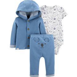 Carters Baby Boys 3-pc. Koala Cardigan Layette Set