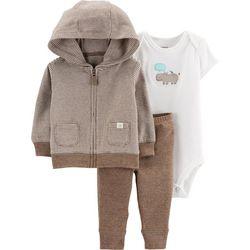 Baby Boys 3-pc. Hippo Jacket Layette Set