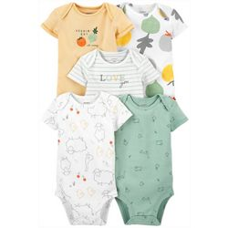 Carters Baby Boys 5-pk. Vegetable Bodysuit Set