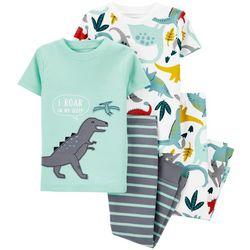 Carters Baby Boys 4-pc. Dino Pajama Set