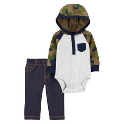 Carters Baby Boys Long Sleeve Camo Bodysuit Set